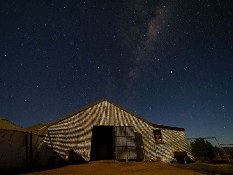 Sit out under the stars at Mt Eba Station