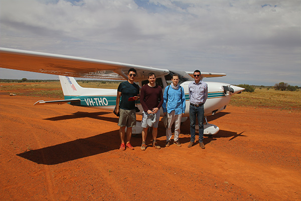 Take a flight tour over Mt Eba and the surrounding outback landscape