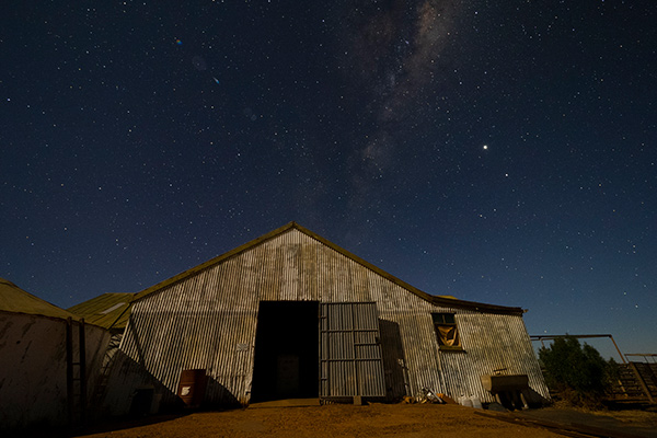 Take in the stars above Mt Eba at night